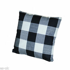 17'' x 17'' Linen Checked Cushion Covers Red Grey Cream Black
