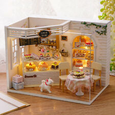DIY Cake Diary Wooden Miniature Furniture Kits House Handmade Dollhouse Gift