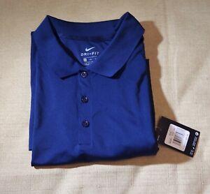Nike Dri-Fit Polo Shirt Color Navy Blue  Sz 4XL MSRP $55.00