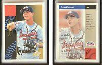 Glenn Williams Signed 1994-95 Excel #160 Card Danville Braves Auto Autograph