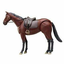 Hot 1/12 Figure 6'' figma 246a Chestnut Brown Horse PVC Animal Scene Model Toys