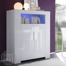 Highboard EOS Sideboard in Weiß echt Hochglanz lackiert 119 cm breit