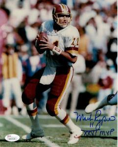 Mark Rypien Autographed/Signed Washington Redskins 8x10 Photo SB MVP JSA 13047