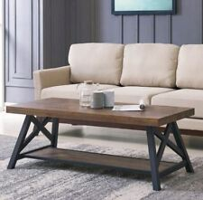 """""""Langport"""" Occasional Coffee Centre Table Pine Rustic Oak Wood Finish by !nspire"""