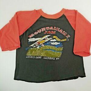 VTG 1984 80s Mountain Aire Festival Concert REM The Cars Jersey T SHIRT XL