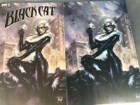 BLACK CAT 1 LUCIO PARRILLO VIRGIN EXCLUSIVE VARIANT SET 1ST PRINT COA NM