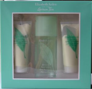 ELIZABETH ARDEN GREEN TEA 3 PCE PERFUME FRAGRANCE BOXED SET BRAND NEW