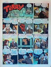 Terry and the Pirates by Caniff - full tab color Sunday comic - January 10, 1943