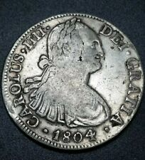 1804 TH America First Silver Dollar Eight 8 Reales Milled Bust Silver Coin $1