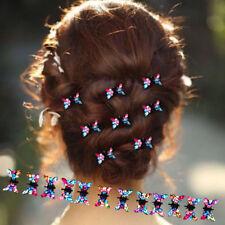 6 Pcs/Lot Hair Clip Women Hair Clips Girls Crystal Mini Butterfly Pin Hair Claws