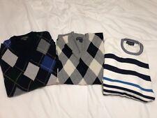 Brooks Brothers Plaid V-Neck Cotton Sweater Lot Pullover Mens 2XL XXL