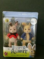 New Peter Rabbit & Flopsy Poseable Figure Set Official Collectible FREE SHIPPING