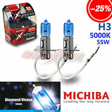 MICHIBA H3 5000K 55W Xenon Super WHITE Headlight Bulbs for LEXUS Front Fog Lamp