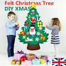 115cm Kids DIY Felt Christmas Tree with Ornaments Xmas Gift Wall Hanging Decor
