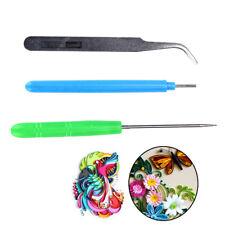 3pcs Paper Diy Set Quilling Paper Tools Tweezer Needle Pins Slotted Pen Tool Bs