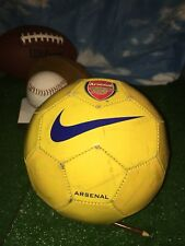 Arsenal Nike Gunners Yellow Official Soccer Ball Size 4