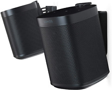 Flexson Wall Mounts for Sonos One, One SL and Play:1 - Black Pair