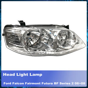 RH RHS Right Head Light Chrome Fit Ford Falcon Fairmont Futura BF Series 2 06~08