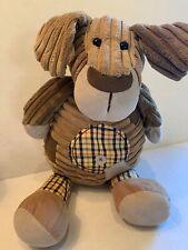 Jellycat Cordy Roy Dog Plush Corduroy Stuffed Animal Puppy Plaid Patchwork Brown