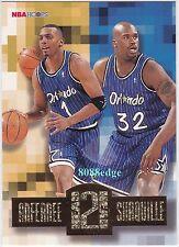 1996-97 HOOPS HEAD 2 HEAD: ANFERNEE HARDAWAY/SHAQUILLE O'NEAL #HH6 ORLANDO MAGIC