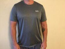 Under Armour Men's Tech T-Shirt Large Loose Heatgear - Gray Short Sleeve 1270502