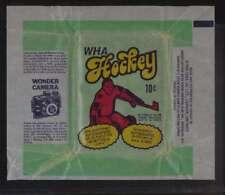 1974 O-Pee-Chee WHA Hockey empty wonder camera ad wrapper  EXMT 45714