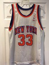 Vintage Rare Patrick Ewing White Variant Champion Jersey 44 New York Knicks