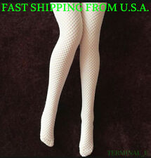 """1/6 Scale Sexy Fishnet Stockings WHITE For 12"""" PHICEN Hot Toys Figure ❶USA❶"""