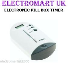 ELETTRONICA TWIN 2 Vano Pill Box Tablet Organizer TIMER ALLARME DISPLAY LCD