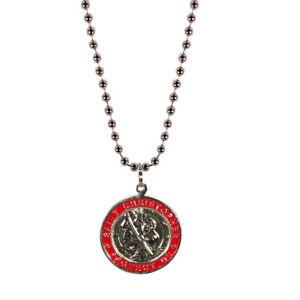 Beach Saint Large St. Christopher Necklace Medal Quarter Size -New Surf Necklace