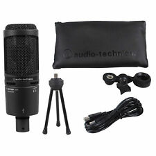 Audio Technica AT2020USB+ PLUS Broadcast Podcast Recording Microphone Mic+Stand