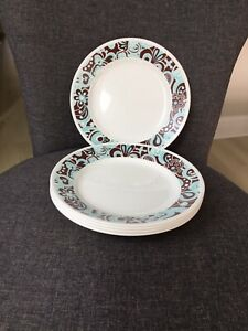 """Set Of 5 Corelle Carousel 8.5"""" Lunch / Luncheon / Salad Plates ~VERY NICE"""