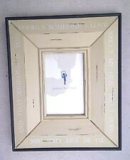 Pottery Barn Kids Hero 8 x 10 Weathered Wood Picture Frame Holds 4 x 6 Picture