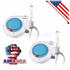 2*Dental Ultrasonic Piezo Scaler Handpiece &Tips fit with EMS WOODPECKER Dentist
