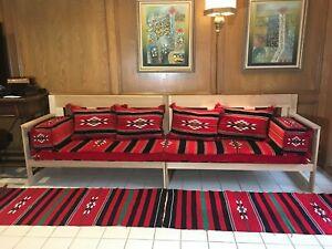 "3 meters wide (120"") Hand made ARABIC floor SEATING مراكي جلسة عربية Moroccan"