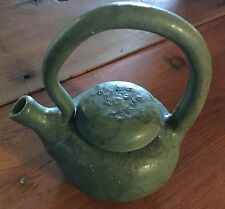Studio Art ZARK POTTERY TEA POT ORGANIC MATTE GREEN GLAZE