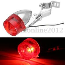 Classic Retro Bicycle Bike Rear LED Indicator w/ Light Lamp Cable Holder Bracket