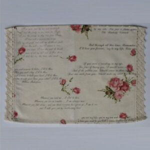 Cotton Placemat - Love Letters Collection