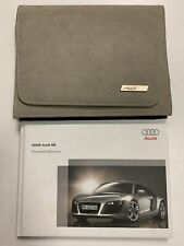 Audi R8 Leather Owners Manual With Case 2008 Rare Original Oem *Make Any Offer*
