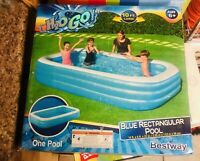 H2ogo 10 X 6 X 22 Quot Deluxe Blue Rectangular Family Pool