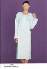 Camicia da Notte Signora. Manica Lunga. 100% Cotone. Linclalor. TG 48-50-58-60