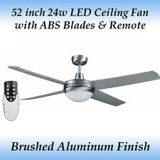 Rotor 52 inch LED Ceiling Fan in Brushed Aluminum with ABS Blades and Remote