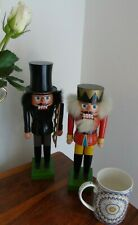 VINTAGE NUTCRACKER Erzgebirgische Volkskunst Expertic Soldier Guard toy CHIMNEY
