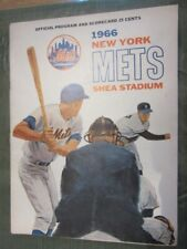 1966 NY METS Vs. YANKEES Shea Stadium PROGRAM & SCORECARD 'Mayor's Trophy Game'