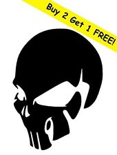 SKULL Vinyl Decal Sticker for Window Wall Car Bumper Laptop Cell Phone JDM Black
