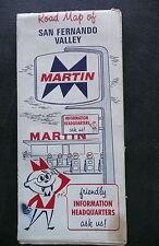 1969 San Fernando Valley street  map Martin  gas oil California