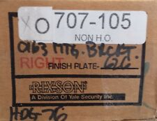Rixson 700 Series 707-105 Overhead Concealed Door Closer RIGHT Hand NON H.O.