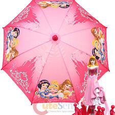 Disney Princess Pink Kids Umbrella Bell Cinderella Snow White with Aurora Figure