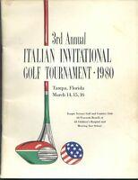 ROGER MARIS AUTOGRAPHS  3RD ANNUAL ITALIAN AMERICAN GOLF TOURNAMENT 1980