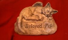 Ceramic/Pet/ Cat Urn cremation/memorial/angel.. Beloved Pet!!